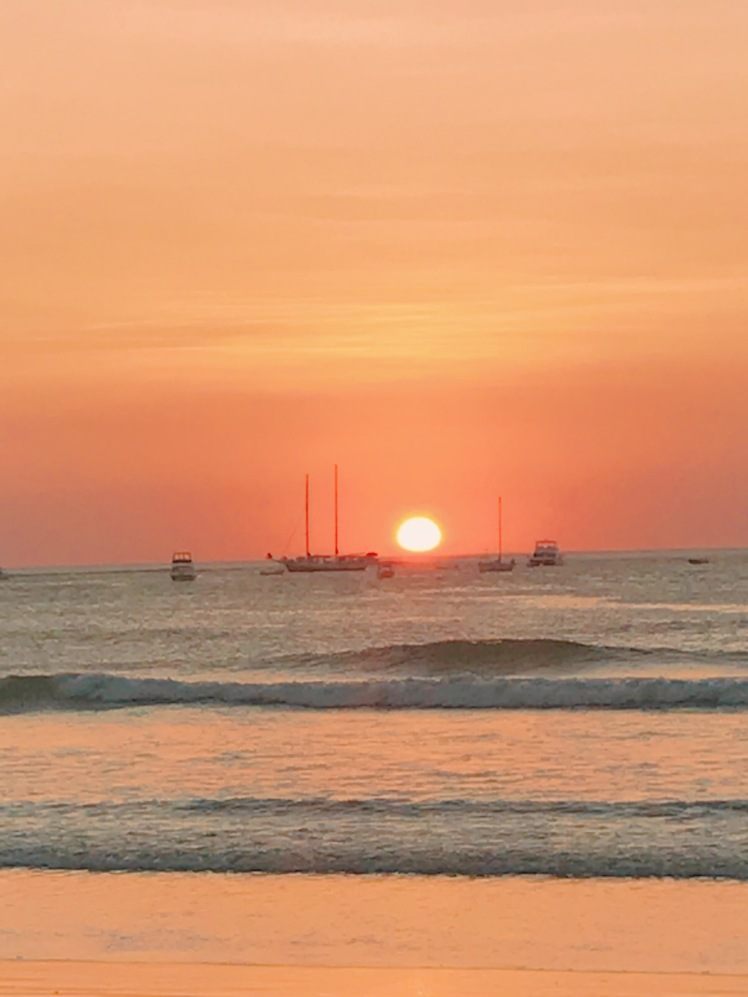 tamarindo beach costa rica sunset