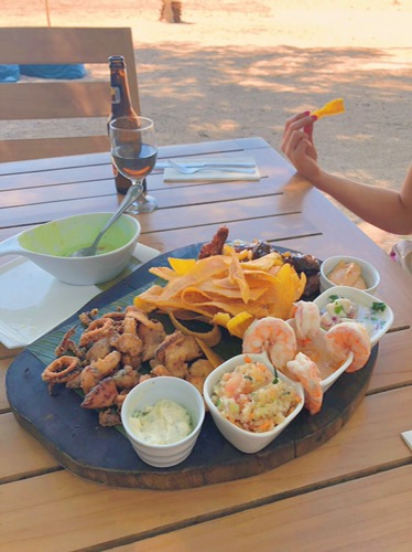 lunch at panga's beach club tamarindo