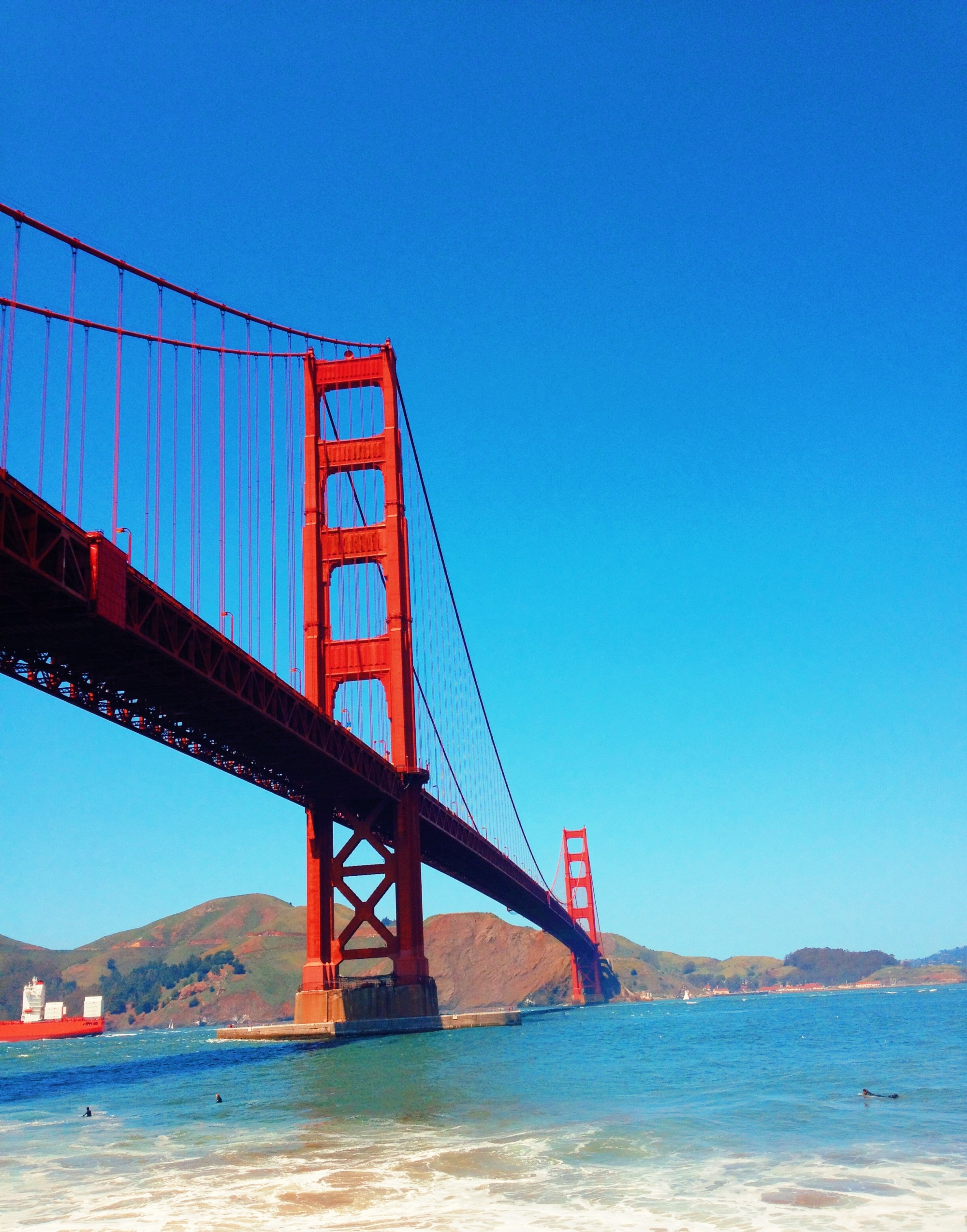 view while biking across the golden gate bridge