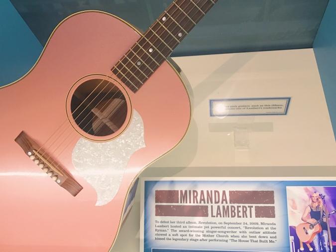 Miranda lambert pink guitar