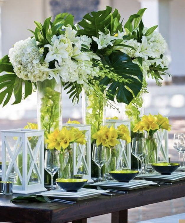 tropical decor wedding inspiration