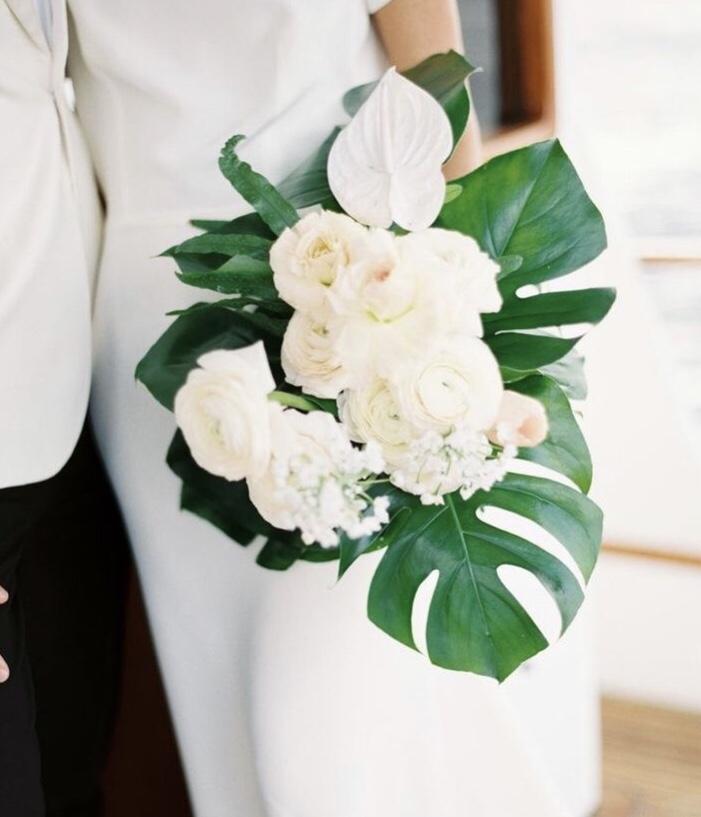 palm wedding decor