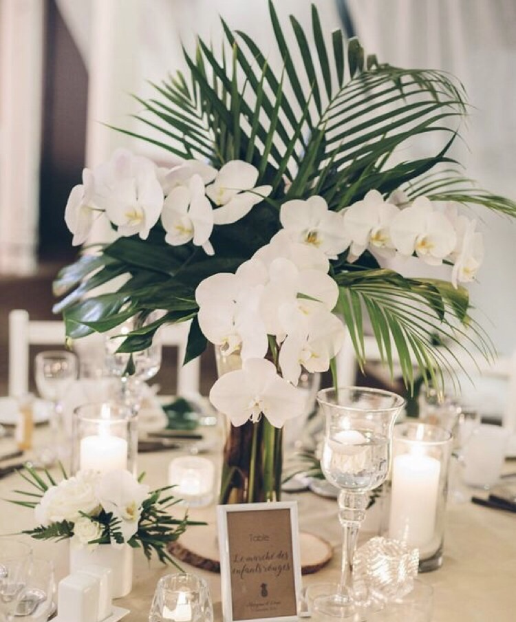 palm wedding decor inspiration