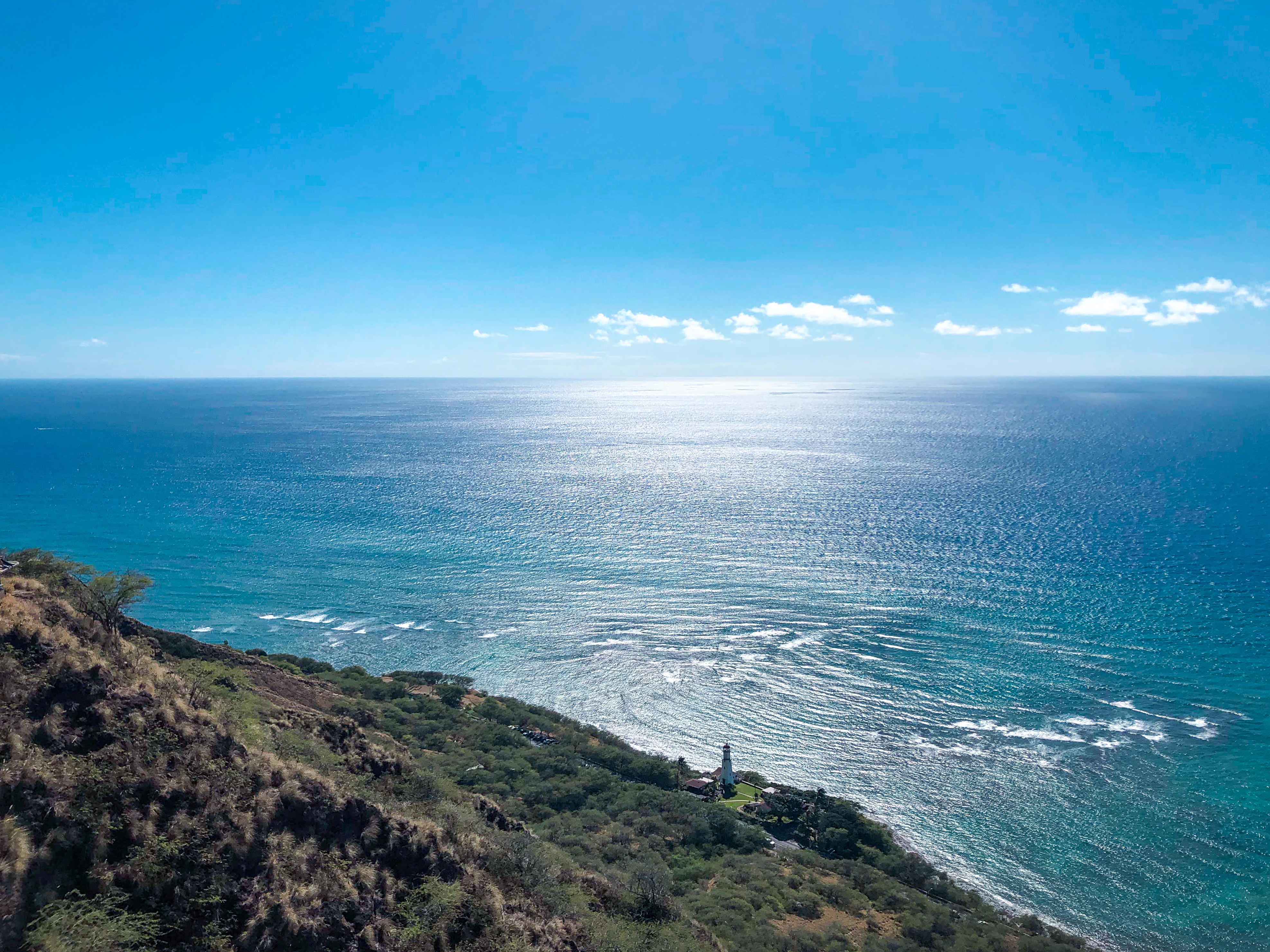 gorgeous view from the top of the diamond head trail