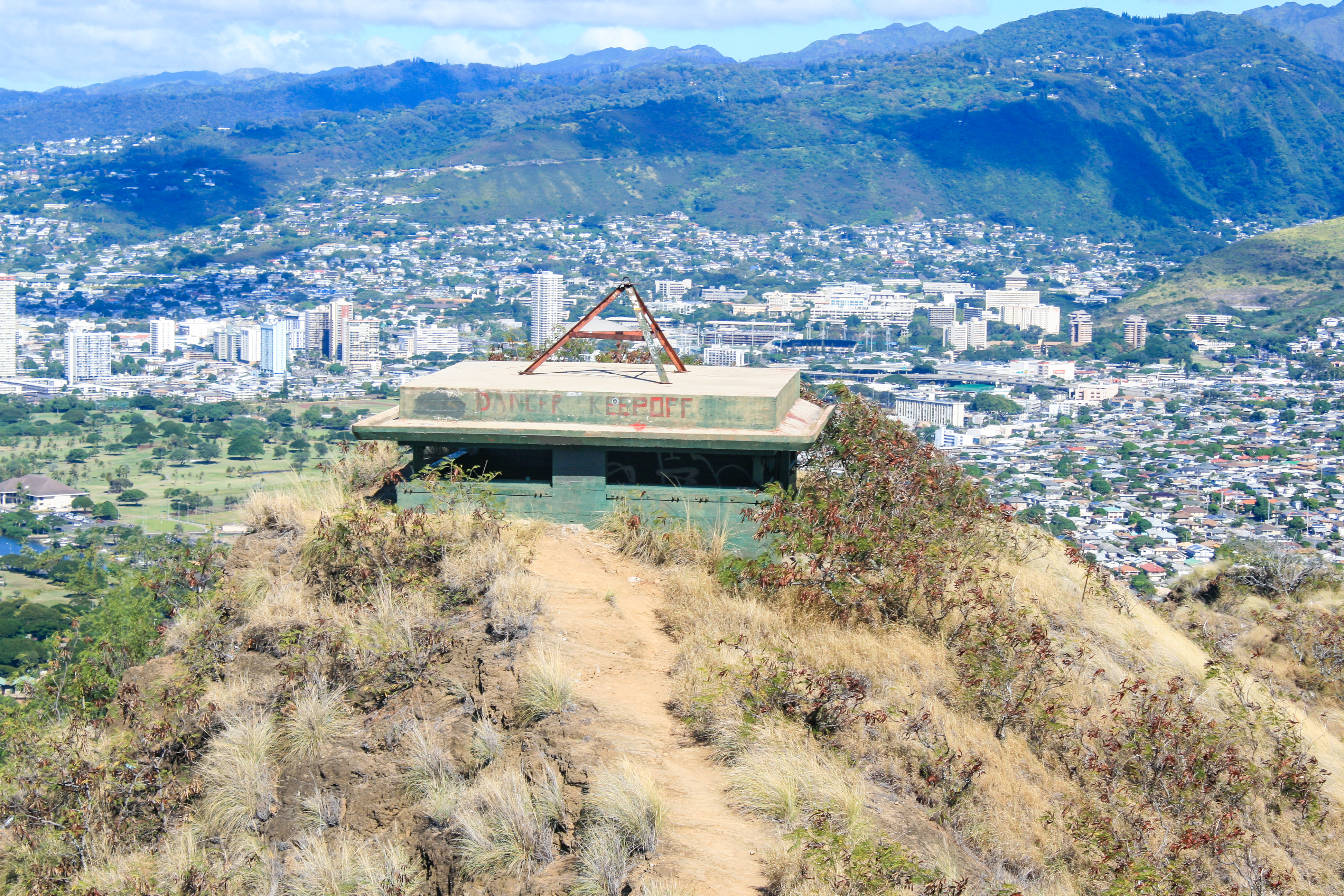 pillbox on top of diamond head