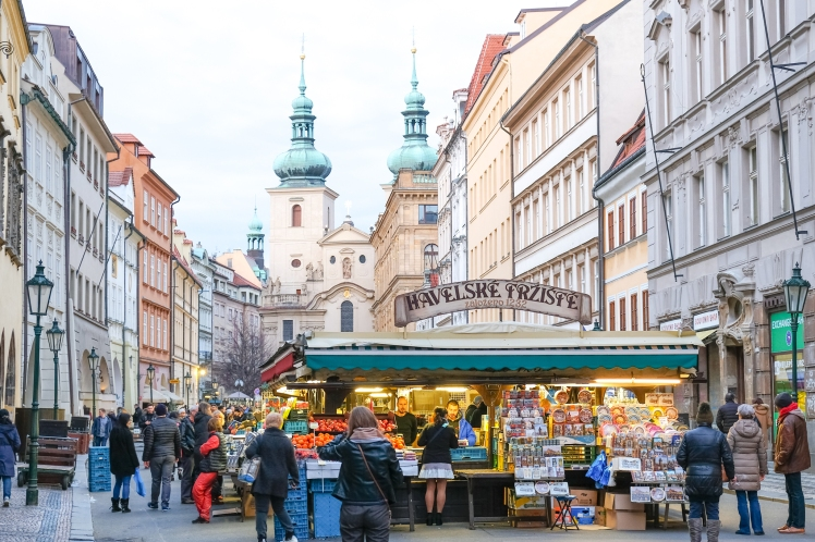 Street Market in Prague