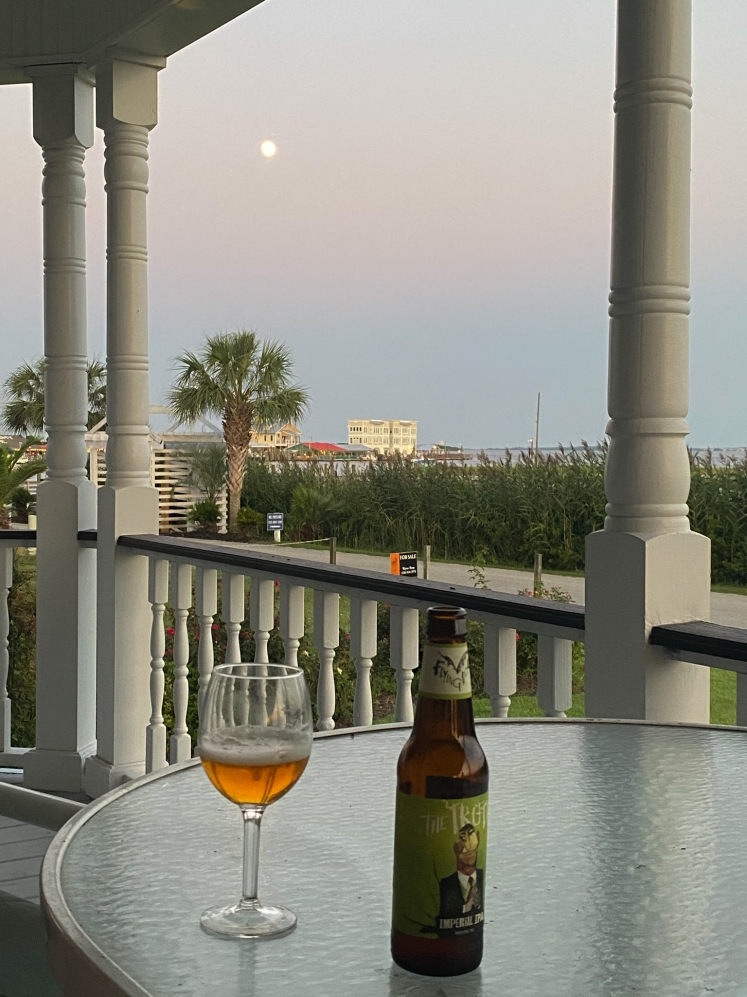 cocktails and a full moon