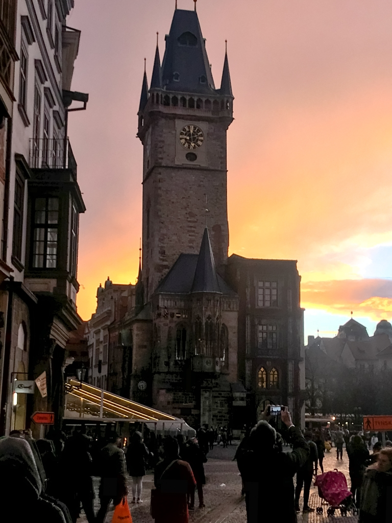 Prague Old Town Square Sunset