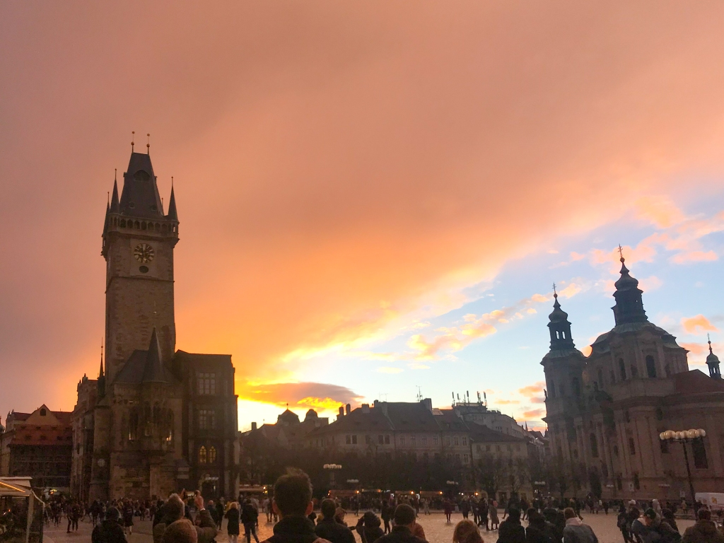 Sunset in Old Town Square PRague