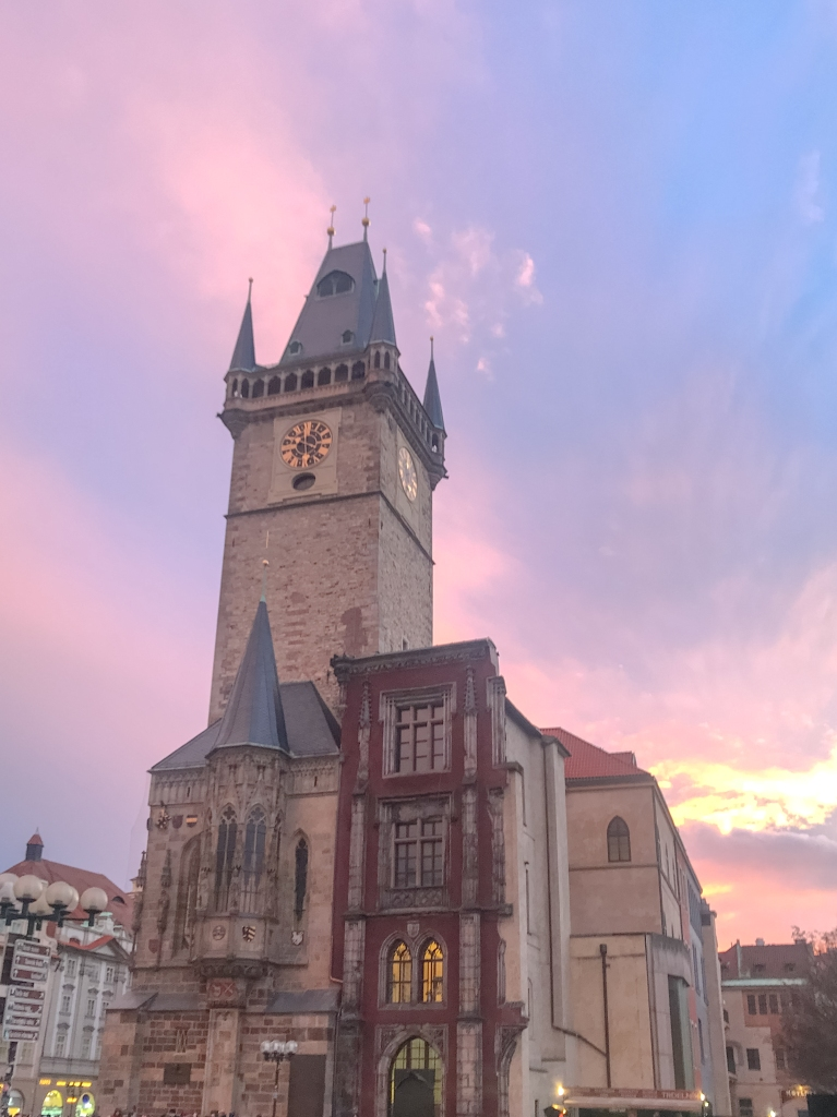 Old Town Square Sunset
