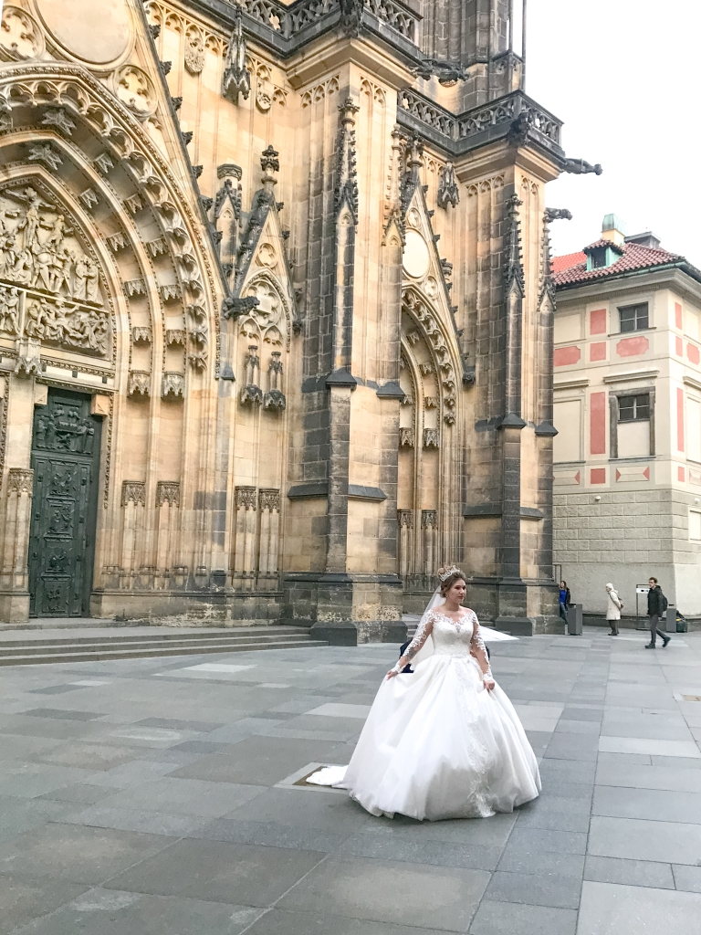Bride at Prague Castle