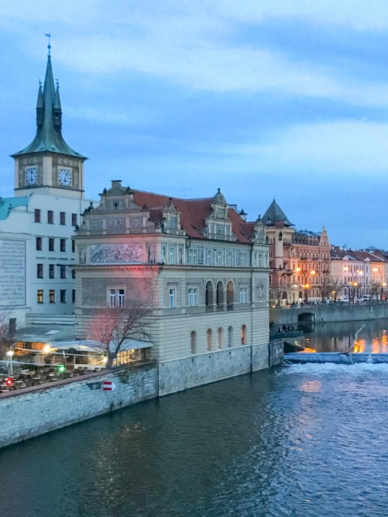 Sunset over Vltava River
