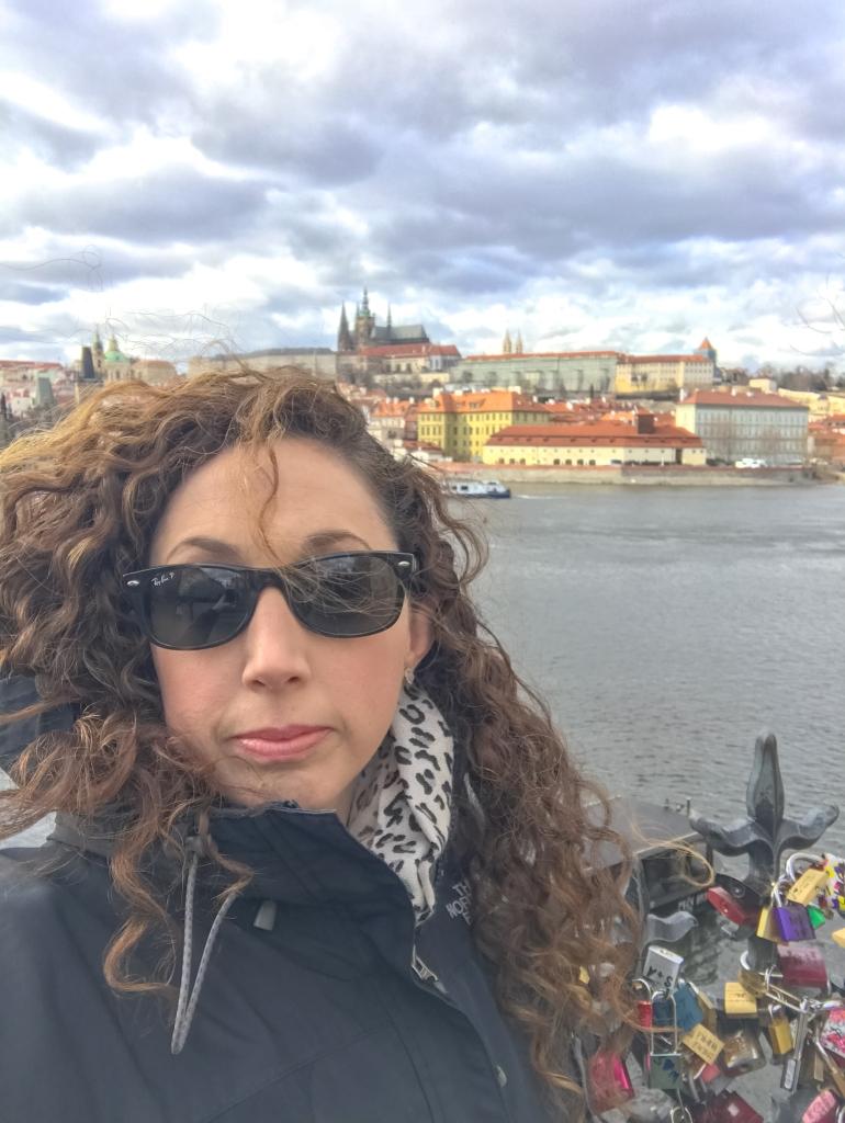 Prague River View of the Castle