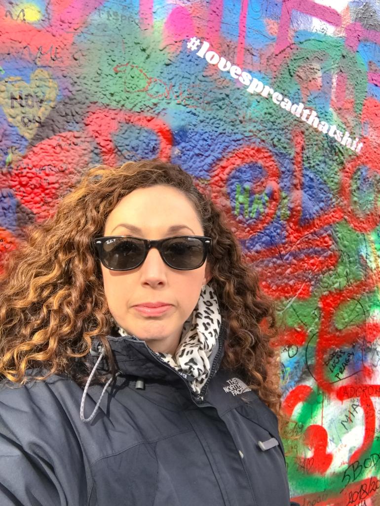 John Lennon Wall Prague #lovespreadthatshit