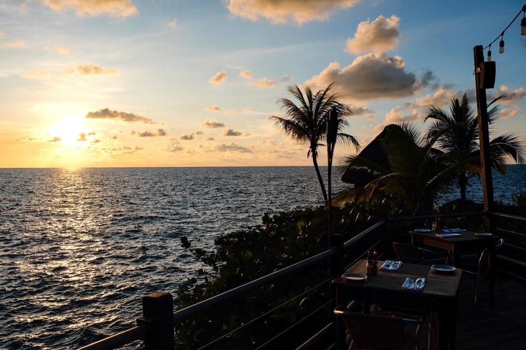 sunset at the rockhouse restaurant