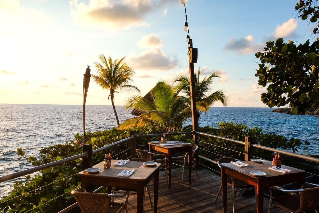 Sunset at the Rockhouse Hotel Restaurant