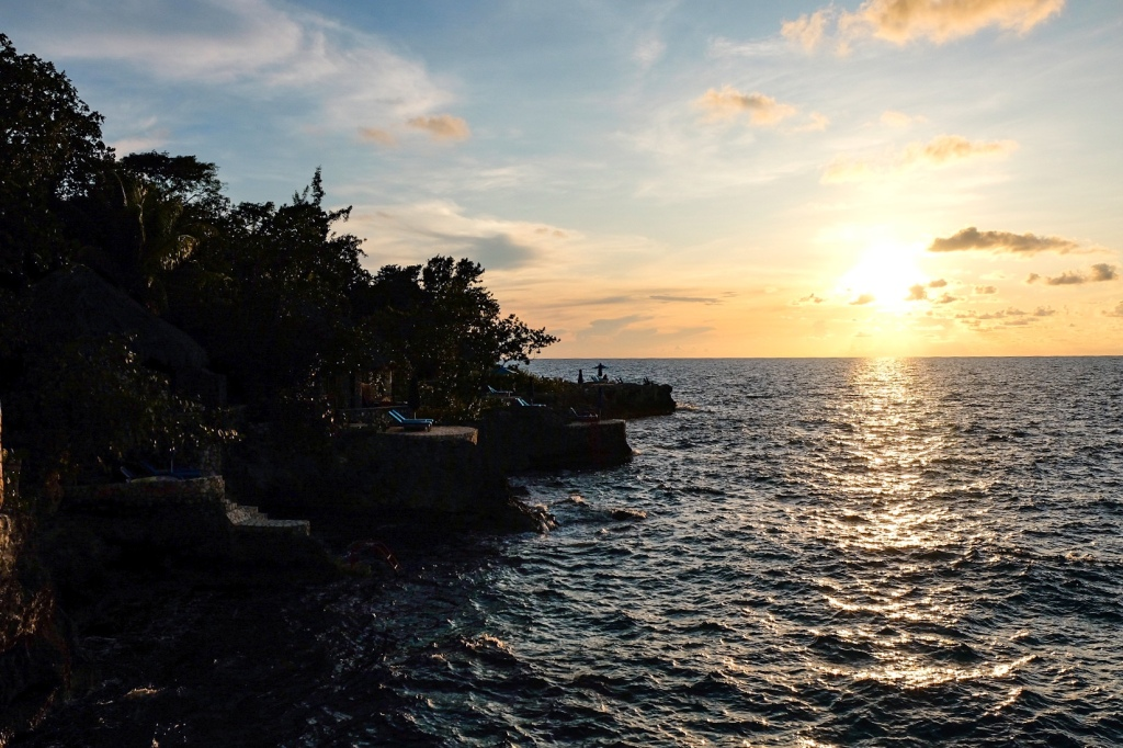 sunset at the rockhouse hotel