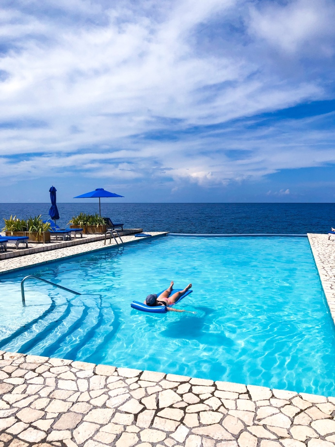 Pool Views at the Rockhouse Hotel Negril Jamaica
