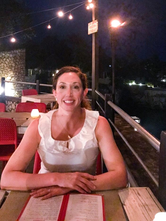 Dinner at the pushcart restaurant Negril Jamaica